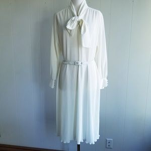1970s Henry Lee Ivory, Ribbed Dress